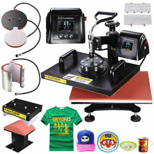 5in1 Lcd Digital Heat Press Machine T shirt Sublimation Transfer Printer