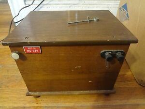 Honeywell Rubicon Instruments Galvanometer In Wooden Case