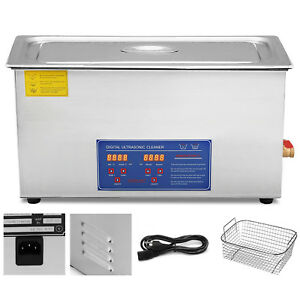 22l Digital Ultrasonic Cleaner Kit Ultra Sonic Bath Timer Jewellery Cleaning