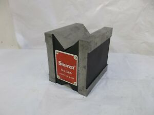Starrett No 566 Dual Vee Magnetic V block 1 3 4 44mm Capacity