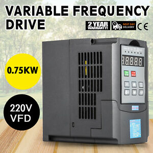 1hp 0 75kw Variable Frequency Drive Vfd Inverter Capability Speed New Great