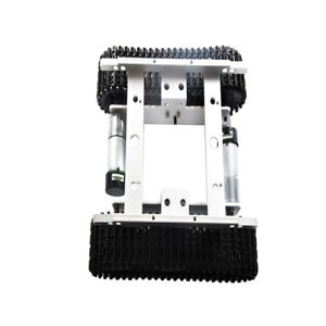 Silver 12v Tracked Robot Smart Obstacle Avoidance Tank Car With Code Wheel