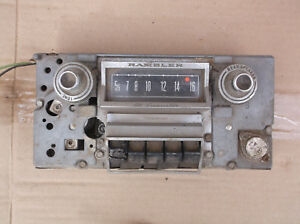 Vintage Antique Rambler Car Radio