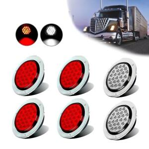 24led 4inch Round Trailer Tail Light Backup Reverse Light For Truck Lorry Bus