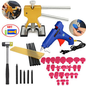 Lifter Dent Puller Glue Paintless Dent Repair Tools Pdr Kit Hammer Car Removal