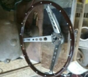 Mustang Woodgrain Steering Wheel Kit 1965 1966 Lightly Used Reproduction