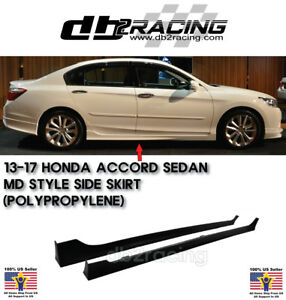 Mod style Side Skirts pp Fits 13 17 Accord 4dr Sedan Vip Jdm