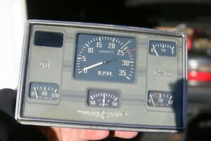 Stewart Warner Boat Gauge Panel Cluster Speedometer Chris Craft Vintage