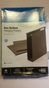 Quill 730055 Box Bottom Hanging File Folders Legal Size 2 Expansion 25ct 1 5cut