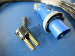 Hubbell 460p9v05 4 pin And Sleeve Male Connector 60 Amp 250 Vac