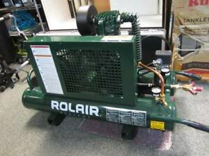 Rolair 5715k17 1 5hp 9 Gal Twin Tank Electric Air Compressor On Wheels Local