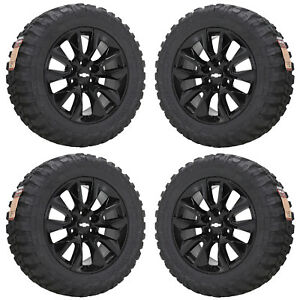 20 Silverado 1500 Truck Black Wheels Rims Tires Factory Oem 2019 96053 5915