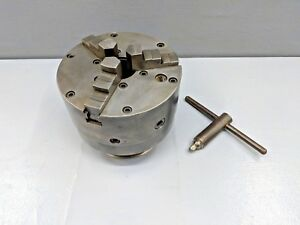 Buck 6 3 Jaw Chuck With Buck L101 Adapter Plate 6 Tpi