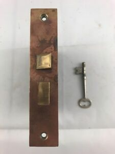 Brass Edge Passage Mortise Lock With Working Key Antique Hardware