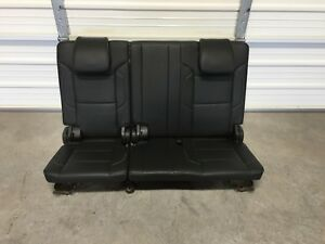 2015 2019 3rd Row Seats Black Leather Tahoe Yukon Escalade Suburban Manual Fold