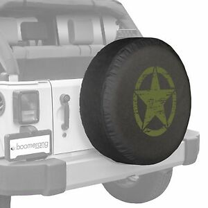 32 Oscar Mike Star Spare Tire Cover Fits Jeep Wrangler Freedom Green