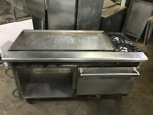 Vulcan 4 Gas Griddle With 2 Eye Gas Burners 1 Oven Refurbished Warrantied