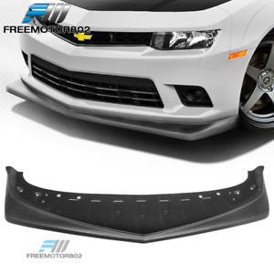 Fits 14 15 Chevy Camaro Ss Z28 Style Front Bumper Lip Carbon Fiber Textured Look