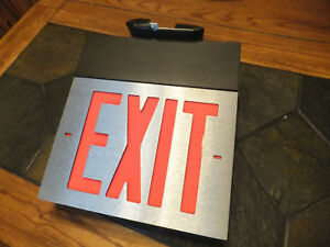 New Dual lite Spectron Emergency Exit Light Sign Service Alert