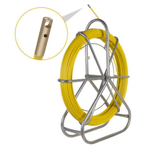 Usa Fish Tape Fiberglass Wire Cable Running Rod Duct Rodder Fishtape Puller Sale