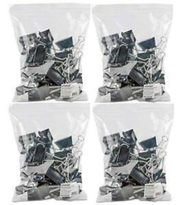 Large Binder Clips Steel Wire 1 Capacity 2 Wide Black silver 36 Per Pack 4
