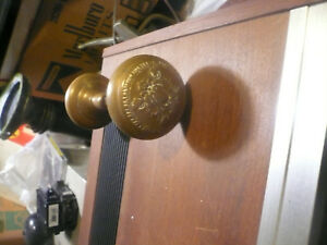 Vintage Ornate Bronze Brass Door Knob Interior