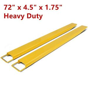 72 Pallet Fork Extensions Forklift Lift Truck Slide On Clamp 72 X 4 5 New