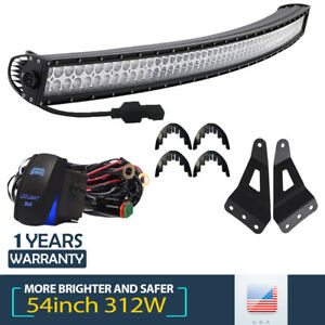 Curved Led Light Bar 52 Inch 312w Combo For Chevrolet Silverado 1500 Gmc Sierra