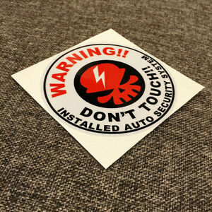 Don T Touch Warning Alarm Auto Security System 3m Reflective Vinyl Sticker Fuel