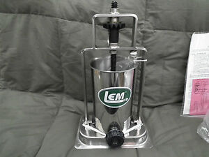 New Lem Sausage Stuffer 606 5 Lb Stainless Steel Vertical Countertop