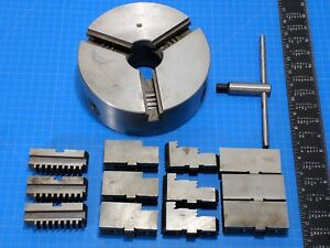 3 Jaw 8 Inch Lathe Chuck W Replacement Jaws Key Made In Poland