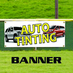 Auto Tinting Indoor Outdoor Vinyl Banner Sign