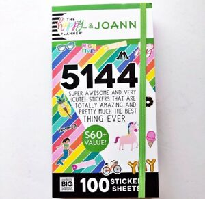 New Mambi Happy Planner Joann Mega Value Sticker Book 100 Sheets 5144 Stickers