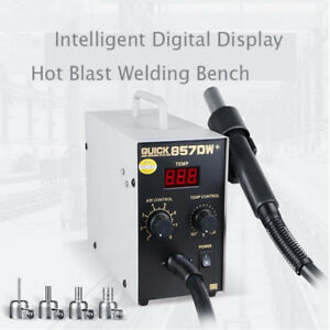 857dw Digital Hot Air Gun Soldering Rework Station Phone Repair 580w Eu Plug