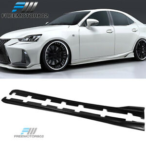 Fits 2014 2020 Lexus Is250 Is300 Is350 Ar Style Matte Black Side Skirts Pp