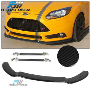 Fits 13 14 Ford Focus St Front Bumper Splitter Lip W Hardware Cf Look