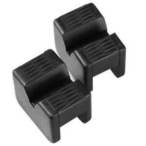 2x Jack Pad Slotted Rubber Frame Rail Protector Pinch Garage Jacking Stand Block