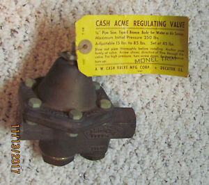 Cash Acme 3 4 Pressure Reducing Regulating Valve In Box Never Used