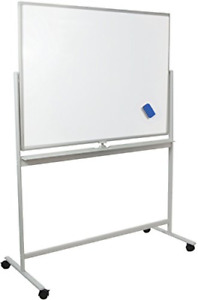 Vivo Mobile Dry Erase Board 48 X 32 Double Sided Magnetic Whiteboard Aluminum
