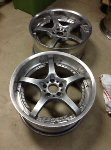 2 19 Rays Volk Racing 5x114 3 Sf Challenge 19x9 5 Et25 Pair Only