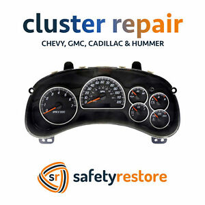 Chevrolet Silverado Instrument Gauge Cluster Repair Service Speedometer Fix