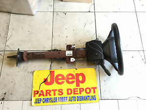 1997 Jeep Grand Cherokee Steering Column Shaft Ignition Switch Wheel Key Assy