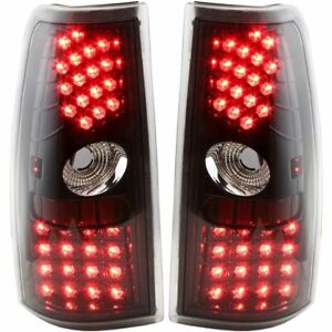 Styleline Set Of 2 Led Tail Light For 2000 2005 Chevy Silverado 1500 Clear Lens