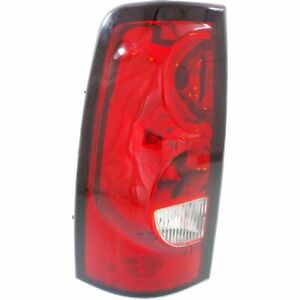 Halogen Tail Light For 2004 06 Chevy Silverado 1500 Fltside Left W Blk Trim Capa