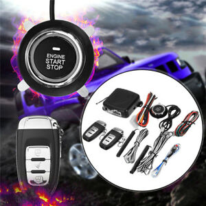 Start Push Button Remote Starter Keyless Entry Alarm System Engine Dc12v 433mhz