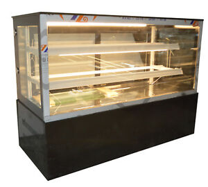 220v 48 Inch Countertop Bekery Display Cabinet Glass Refrigerated Cake Showcase