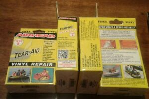 Lot 4 Tear aid Underwater Repair Patch Kit 3 x12 7 8 x7 8 1 3 8 x1 3 8 Type B
