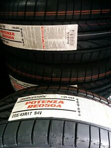Bridgestone Potenza Re050a 205 45r17 Tire 205 45 17 Free Installation 205 45 17
