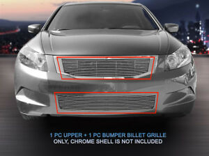 Fedar Billet Grille Combo For 2008 2010 Honda Accord Sedan Polished