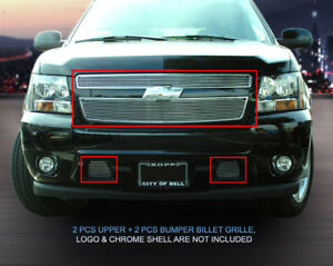 Fedar Billet Grille Combo For 2007 2014 Chevy Tahoe Suburban Avalanche Polished